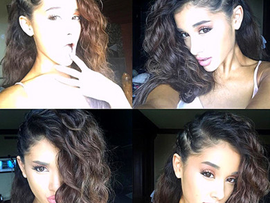 Ariana Grande Displays A Head Full Of Her Real Curls